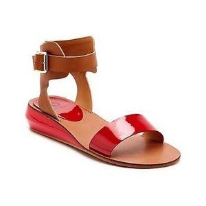 Red & Camel Genna Sandals